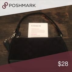 Coach Purse Small Coach Purse in Signature Black Fabric. Gently Used. Coach Bags