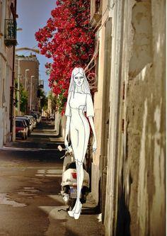 italian street sketch 4