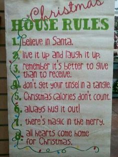 Christmas rules that could be daily every day rules