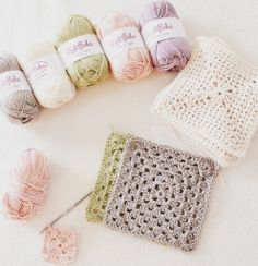 Inspiration @ the stitch pattern: soft muted colours