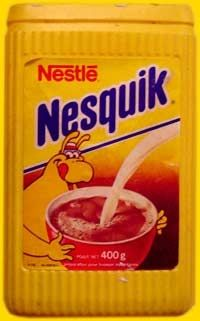 Nesquik - this is what ours looked like when i was little. Don't remember the character on there but I still totally remember the feel of that ridged plastic container :) My Childhood Memories, Sweet Memories, Peter Et Sloane, Nesquick, Nestle Chocolate, Good Old Times, 90s Nostalgia, 80s Kids, Oldies But Goodies