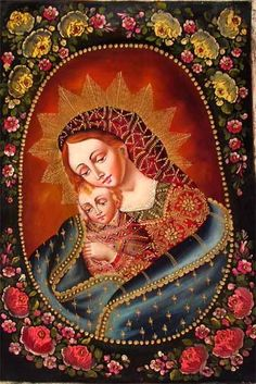 Madonna & Child, painting from Peru