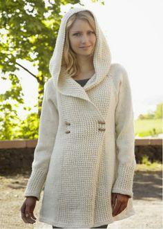 abrigo para mujer tejido a palillo como tejer un abrigo o chequetón para el invierno OjoconelArte.cl |