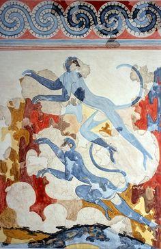 Santorin - Fouilles d'Akrotiri - Fresque