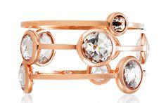 henri bendel no.7 multistone bangles in rose gold