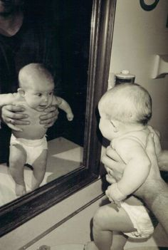 It's a 'mirror stage' moment made for Lacan and photographed by G-d!