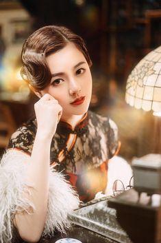 Shanghai Night, Old Shanghai, Korean Beauty, Asian Beauty, Debut Photoshoot, Chinese Gown, Korean Wedding, Cheongsam, Hanfu