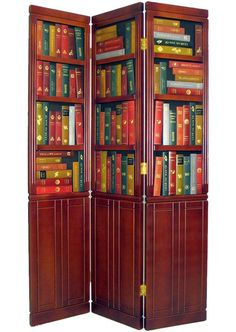 Beautiful Solid Wood Library Book Screen Room Divider Pick