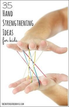 Strength: 35 Fun Activities for Kids Hand strength is important for writing, cutting, fastening clothing and more! Check out these 35 genius ideas for strengthening your child's hands to help with all kinds of developmental skills. Fine Motor Activities For Kids, Motor Skills Activities, Gross Motor Skills, Sensory Activities, Learning Activities, Physical Activities, Pediatric Occupational Therapy, Physical Development, In Kindergarten