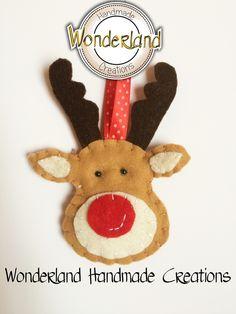 Renna di Babbo Natale- Felt - Christmas