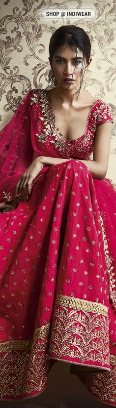 Wedding Bliss Pink Lehenga... #indian #wedding #dresses