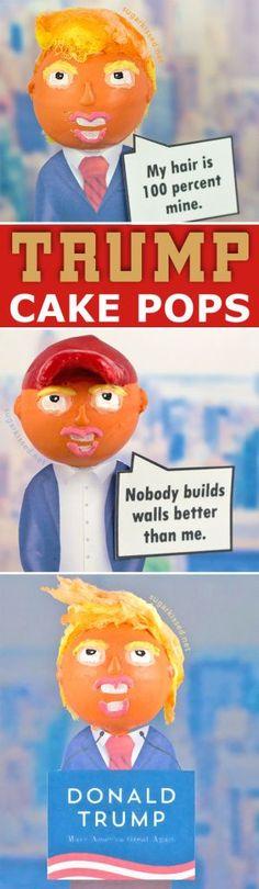 Donald Trump Cake Pops #donaldtrump #cakepops