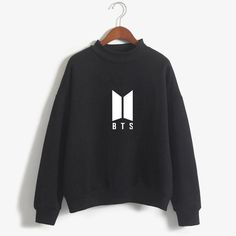 Bts Hoodie, Hoodie Sweatshirts, Long Sleeve Turtleneck, Long Sleeve Tops, Turtleneck Sweatshirt, Sweater Jacket, Moda Kpop, Modele Hijab, Bts Clothing