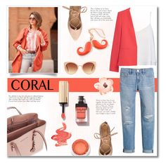 """""""Coral"""" by bogira ❤ liked on Polyvore featuring Alice + Olivia, MANGO, Michael Kors, White House Black Market, Yves Saint Laurent, Forever 21, women's clothing, women, female and woman"""