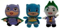 Lot 3 Batman Joker Catwoman DC Comics Originals Little Mates Stuffed Plush Toy
