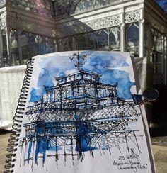 #hornimanmuseum Cool Artwork, Horns, Museum, Watercolor, Ink, Architecture, Tattoos, Instagram Posts, Inspiration