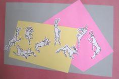 Happy Rabbit Day Illustration Rally | emma russell Rally, Oc, Rabbit, Aesthetics, Illustration, Cards, Home Decor, Bunny, Rabbits