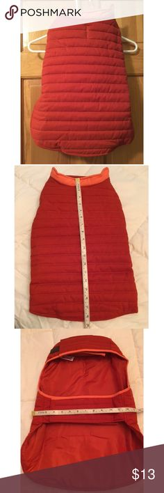 Rust Dog Quilted Coat - NWOT Description: Awesome quilted dog coat with velcro closures. Size L. 100% Polyester. Condition: Never used! New without tags! Smoke free home! Ask questions before you purchase! Jackets & Coats Puffers
