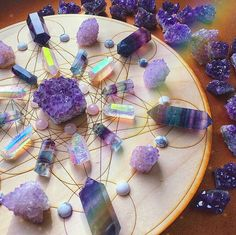 A collection of crystals, stones, and jewelry that provide healing and protection. Detailed descriptions of crystal meanings, uses, and properties. Crystal Room, Crystal Magic, Crystal Decor, Crystal Grid, Crystal Mandala, Amethyst Crystal, Crystals Minerals, Crystals And Gemstones, Stones And Crystals