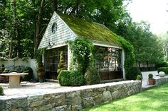 Love everything about this little garden house