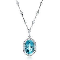 Tiffany & Co.  aquamarine pendant