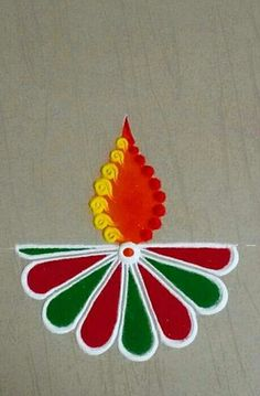 Easy Rangoli Designs Diwali, Rangoli Simple, Indian Rangoli Designs, Simple Rangoli Designs Images, Rangoli Designs Latest, Rangoli Designs Flower, Free Hand Rangoli Design, Rangoli Border Designs, Small Rangoli Design