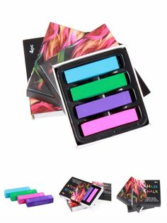 [Visit to Buy] 4 Pieces/Set Hair Chalk Dye Soft Hair Pastels Kit Hair Beauty Care Fashion Hair Chalks Easy Temporary Colors #Advertisement