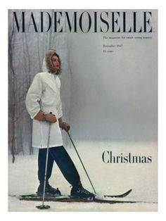 996f1f016803 Looks chilly... Mademoiselle Cover - December 1947 Premium Giclee Print  Vintage Sportswear