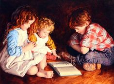 Are We Starving The Hearts Of Our Children?, Jim Daly, painting, a child's life, children reading story book, FavoriteStory