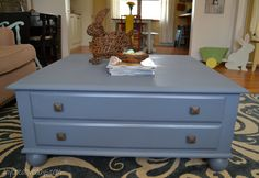 Do you have a coffee table that needs a makeover? Check out this Ethan Allen coffee table that I made over with Country Chic Paint. mycreativedays