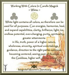 Candles: Working with Colors in Candle Magick ~ White.