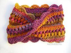 ಌ✿༺✿Bufandas Tejidas ღ✿༻ Artmorixe: DIY- Cuello moebius o infinito multicolor a croche...