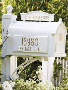 make a curbside statement while adding a personal touch to your mailbox with the handsome Capitol Monogrammed Mailbox; available in three color finishes to accommodate your style.