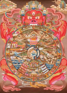 The Wheel of Life - An illustrated description of the Wheel of Life, the key to our existence!!