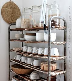 Industrial Bakers Rack   Foter | Vintage Industrial Farmhouse | Pinterest | Industrial  Bakers Racks, Bakers Rack And Industrial