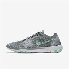 detailed look 6586e 4c8c8 Nike Free Focus Flyknit 2 (Cool Grey   White   Arctic Green) Womens Training