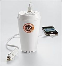 Coffee cup USB Charger for the car! Awesome!