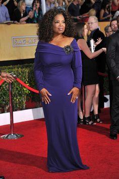 Oprah Winfrey in Badgley Mischka. [Photo by Donato Sardella]