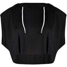 Boohoo Faye Raw Edge Crop Sleeveless Hoody ($16) ❤ liked on Polyvore featuring tops, hoodies, crop tops, cropped hoodies, cropped hooded sweatshirt, crop top, sleeveless hoodies and sleeveless tops