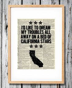 Hey, I found this really awesome Etsy listing at http://www.etsy.com/listing/115819900/wilco-quote-about-california-art-print