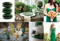 Como usar verde-esmeralda no casamento