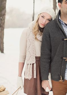 #engagement #pictures in the snow. :)
