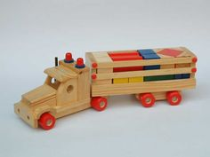 wooden truck Wood Toys Plans, Wooden Truck, Bicycle Bell, Practical Gifts, Baby Bottles, Diy Hacks, Cool Gadgets, Wooden Toys, Diy And Crafts
