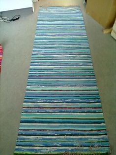 Rag Rugs, Tear, Recycled Fabric, Rug Making, Woven Rug, Scandinavian Style, Carpets, Pattern Design, Recycling