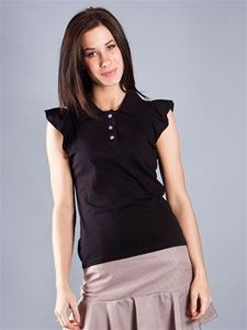 Ruffle Sleeves Polo Top $72 from Shi Golf