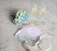 Adorable pastel coloured wedding invitations