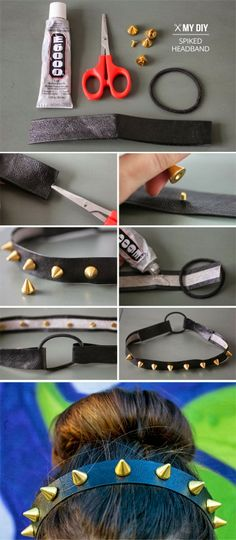 headband With Studs And Spikes