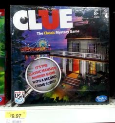Walmart ~ Clue Game Deal ~ Save $2.00 Now ~  Kids driving you bonkers already this summer? Give them something new to play.Grab this$2.00/1 Clue Game printable couponand head to Walmart.  Here is Your Deal Clue Board Game $9.97 -Use$2.00/1 Clue Board Game printable coupon Final price $7.97 Thanks Deal Searching Mama --->>> http://oogl.us/1mpHQDW #Clue, #Coupons, #Games, #Kids, #Summerfun, #Toys, #Walmart