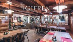 Restaurant Geeren - Echt und Guet nach Grosis Rezepten - GEEREN Conference Room, Restaurant, Eat, Table, Furniture, Home Decor, Home Made, Recipies, Decoration Home