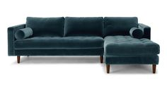 Sven Pacific Blue Right Sectional Sofa - Sectionals - Bryght | Modern, Mid-Century and Scandinavian Furniture